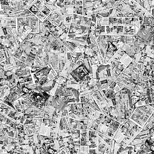 vintage b&w comic book sticker bomb / wrap sheet 500mmx500mm matt laminated