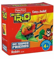 ROBIN HELICOPTER HELI BATMAN TRIO DC SUPER FRIENDS SET FIGUR FISHER PRICE