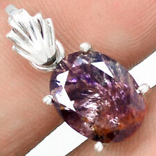 Faceted Cacoxenite 925 Sterling Silver Pendant Jewelry SSS CXFP46