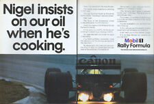 Mobil 1 Rally Formula 1987 Magazine 2 Page Advert #3786