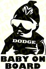 BABY ON BOARD Car Truck Window Vinyl Decal Sticker for DODGE JEEP CHRYSLER RAM