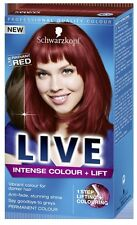 Schwarzkopf LIVE Intense Colour & Lift L38 Radiant Red Pro Hair Colour Dye x 1