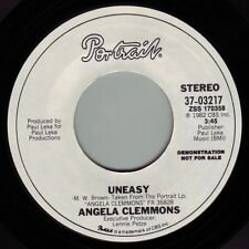 ANGELA CLEMMONS Uneasy ((**NEW PROMO 45**)) from 1982