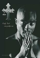 "2 PAC / TUPAC SHAKUR FLAGGE / FAHNE ""ONLY GOD CAN JUDGE ME"" POSTER POSTERFLAG"