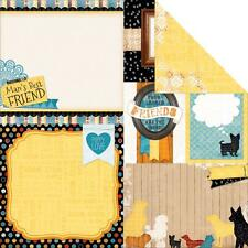 BoBunny Dog  Journaling  12x12 Scrapbooking Paper