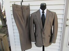 Vintage Circle S Shiny Western Suit Sharkskin Brown Arrow 42R