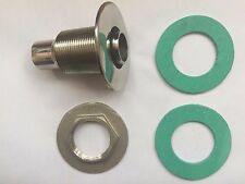 STAINLESS STEEL MARINE SKIN THREAD FITTING 30MM WITH  FOR WEBASTO/ESPAR  HEATERS