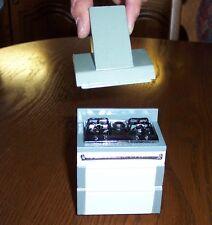 Herd und Abzugshaube - weiss / Silber - Miniatur 1:12 Puppenhaus