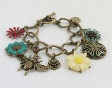 Lucky Brand In the Garden Charm Toggle Bracelet w Bee & Flowers