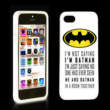 Funny BATMAN Quotes Rubber Hard Case Cover for iphone 5 5S