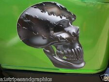 Golf Cart  RIPPED METAL SKULL Graphics Set fit EZGO club Car Yamaha Decal Decals