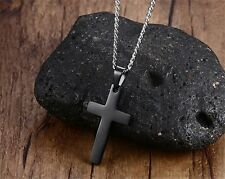 Fashion Cross Necklaces Pendant For Men Stainless Steel Male Prayer Jewelry