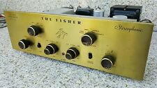 Vintage FISHER X-101-ST Tube Integrated Amplifier Aml 7189 12AX7 12AU7 Amp Works
