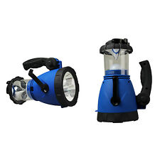 Outdoor Emergency Hand Crank LED lantern Light Lamp Spotlight w/ Car Charge