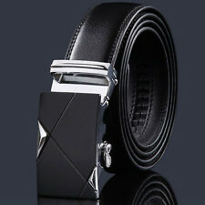 Luxury Men's Genuine Leather Automatic Buckle Belts Waist Strap Belt Waistband