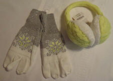 Gymboree Cozy Ski Lodge Medium Snowflake Sparkle Gloves One Size Ear Muffs NWT
