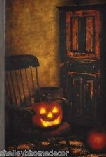 Jack o Lantern Prim Rocker Radiance Lighted Canva x46726NEW flickering light