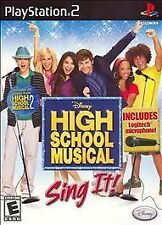 High School Musical: Sing It (Sony PlayStation 2, 2007)  WITH MANUAL