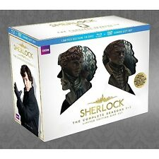 Sherlock Complete Season 1-3 ~ NEW LIMITED EDITION 14-DISC BLU-RAY & DVD SET