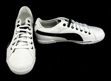 Puma Shoes Benecio Athletic Canvas White/Black Sneakers Size 9.5 EUR 42.5