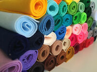 Super soft felt fabric (approx 21cm x 24cm) polyester - choose from 51 colours