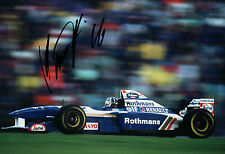 Damon HILL Signed Rothmans Renault Autograph F1 12x8 Photo AFTAL COA RARE