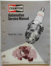 1974 Champion Automotive Service Manual World's No. 1 Seller Printed in U.S.A.