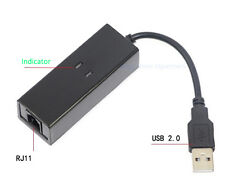 USB 56K External Dial Up Voice V.90 V.92 Fax Data Modem Window 7 Win 8 XP Linux