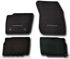 OEM NEW 2014 Ford FUSION Premium 20oz Shiva Carpet Floor Mats, Black Embroidered