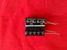 2 PC 4700UF 4700mfd 50V Electrolytic Capacitor 105 degrees & USA FREE SHIPPING