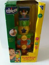 """Chicco Surprise Circus - STACK IT! CONNECT IT! PULL IT! """"NEW"""" VERY HARD TO FIND"""