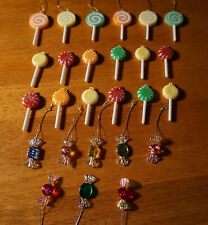 Lot of 26 Christmas Candy Sugar Lollipop Candies Mini Tree Ornaments Home Decor