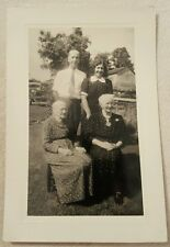 Vintage Antique Black and White Photograph Family on Farm old ladies 1946