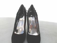 """truffle"" size 7  black suede shoes with studded backs"