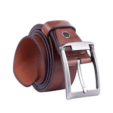 Classical Men's Waistband Leather Belts Trousers Pin Buckle Waist Strap Gifts