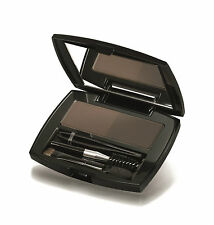 IsaDora Perfect Brow Kit Duo Compact Powder - Brown Duo - Brush Sponge Tweezers