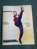 NOTEBOOK  - UK SUNDAY MAGAZINE - 13 APRIL 2014 - RICKY GERVAIS - EMILIA FOX