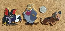 Fantasy Disney Pin Set. The Great Mouse Detective Characters-Fidget/Toby-LE 50