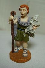 "Nativity Shepherd Boy with Lamb and Staff 2 1/2"" Lemax"