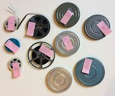 """Miscellaneous Super 8 mm Film Reels -- Old Cars, Scenery, """"Bobby's Bar Mitzvah"""""""