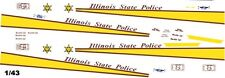 Illinois State Police 1/43rd Scale Slot Car Waterslide Decals