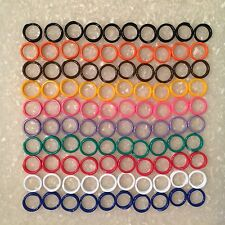 "100 Poultry High Quality Spiral ID Size 11 Leg Bands Chickens 11/16"" Multi-Color"