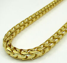 """26"""" Inch 5mm 91 Grams 10k Yellow Gold Franco Snake Box Cuban Chain Necklace Mens"""