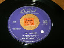 PEGGY LEE - YOU DESERVE - THINGS ARE SWINGIN  / LISTEN -  VOCAL JAZZ POPCORN