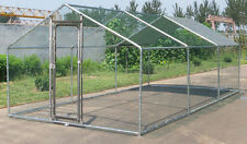 Chicken Run 20x10 ft Walk in Coop for Poultry Dog Rabbit Hen Cage Pen Metal Door