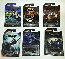 Hot Wheels 2015 Set of 6 BATMAN VEHICLES w/ Bat-Pod & Classic Batmobile, Walmart