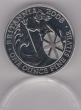 2008 SILVER £2/1oz. BRITANNIA IN MINT CONDITION WITH A CAPSULE