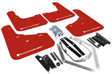 Rally Armor Urethane UR RED Mud Flaps w/ WHITE Logo 2014-2015 Ford Fiesta ST