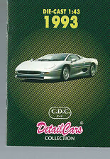 Detail cars collection CDC catalogue 1993 20 pages 1/43
