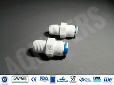 "2 x 1/4"" NPT to 1/4"" Push Fit Connector Adaptor - Reverse Osmosis, RO fitting"
